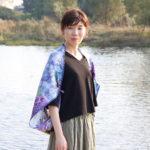 紫陽花浮べてスカーフ