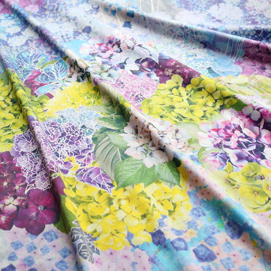 紫陽花スカーフブルー