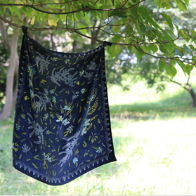 ミモザ,ミモザの星降る夜に,スカーフ,花柄