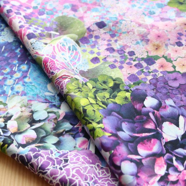 紫陽花シルクスカーフ