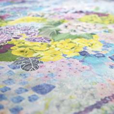 紫陽花浮べてスカーフブルー