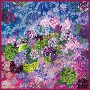 水の器紫陽花浮べて シルクスカーフ